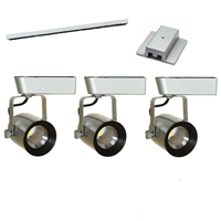 LED Track Lighting Kit HT-60088-3KIT-BS Brushed Steel Dimmable LED Track Lighting, Track Lighting Kits, Track Lighting Systems, LED Track Lighting Kits, LED Track Lights, LED Track, LED Track Light, LED Luminaries, LED Spot Light, LED Track Head,HT-60088-LED-KIT
