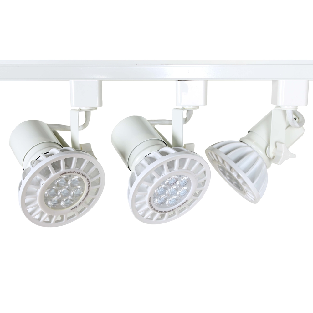 Led Par30 Track Lighting Kit In White