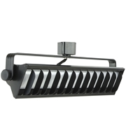 25W LED Wall Wash Track Lighting 4000K Black Finished Front View Direct-Lighting 60091-BK