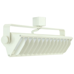 25W LED Wall Washer Track Lighting 4000K White Finished Front View Direct-Lighting 60091-WH
