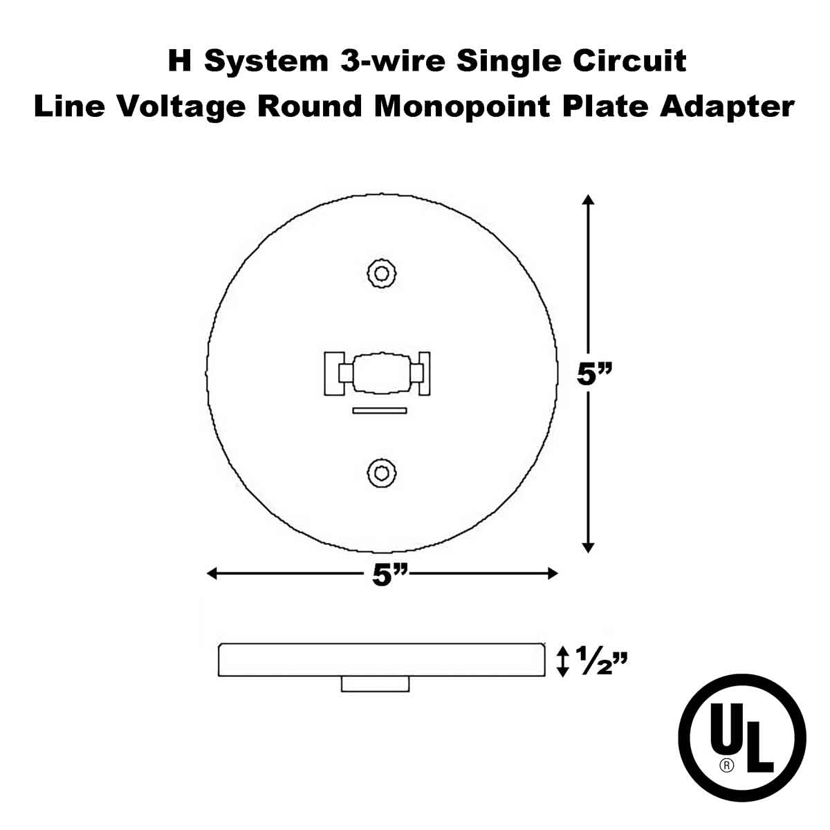 Line Voltage Round Monopoint Plate Adapter.