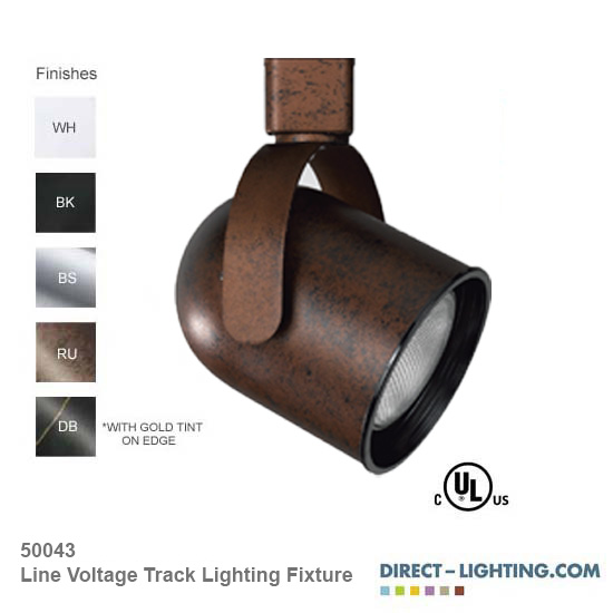 Line Voltage Track Lighting Fixture 50043
