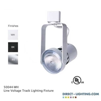 Line Voltage Track Lighting Fixture 50044 Line Voltage Track Lighting, Front Loading Gimble Ring , 50W, Track Fixtures, Track Lights, 120V, Halogen, PAR20, Retail Store Lighting, Ceiling Lighting, General Lighting, Kitchen Lighting, 50044, shop