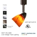 50071 Line Voltage Track Lighting Fixture - Amber Spot Glass