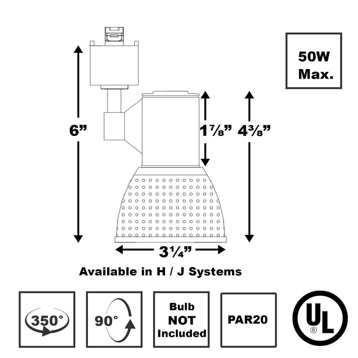 Shop Line Voltage Track Lighting 50W PAR20 50139 Direct