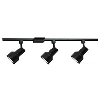BR30 Stepped Back Track Lighting Kit 50093FC Black