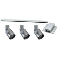 Line Voltage Track Lighting Brushed Steel