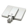 H System Single Circuit Track Lighting Live End Connector with Outlet Box Cover 50106 Brushed Steel