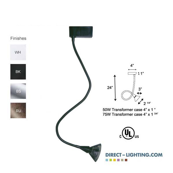 low voltage track lighting halogen gooseneck display lighting 50022