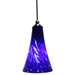 DPN-24-6-BLEUP Blue Colored Bell Shaped Glass Pendant Light