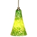 DPN-24-6-GRNP Green Colored Bell Shaped Glass Pendant Light