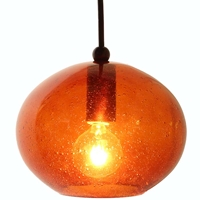 DPN-28-6-AMBCB Amber Colored Rounded Shaped Glass Pendant Light