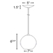 Mini Pendant Lighting DPN-28-6-BLUECB - DPN-28-6-BLUECB-DCP-84-DB