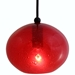 DPN-28-6-REDCB Red Colored Rounded Shaped Glass Pendant Light