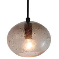 DPN-28-6-SMOKEB Smokey Grey Colored Oval Shaped Glass Pendant Light