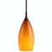 DPN-30-6-AMB Amber Colored Teardrop Shaped Glass Pendant Light