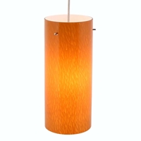 DPN-31-6-AMB Amber Colored Cylinder Shaped Glass Pendant Light