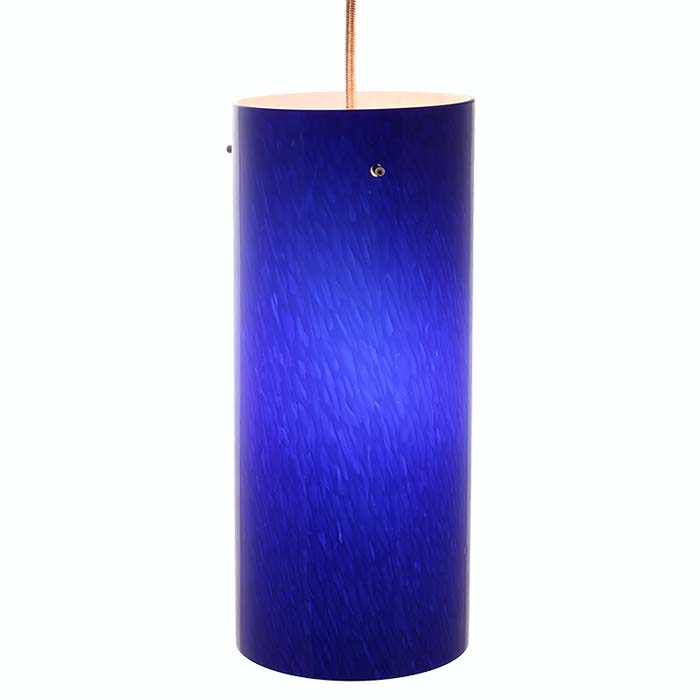 DPN-31-6-BLUE Blue Colored Cylinder Shaped Glass Pendant Light