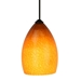 DPNL-22-6-Amber Amber Colored Dome Shaped Glass Pendant Light