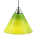 DPNL-25-6-GRN Green Colored Cone Shaped Glass Pendant Light
