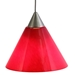 DPNL-25-6-RED Red Colored Glass Pendant Light