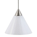 Mini Pendant Lighting DPNL-25-6-WH - DPNL-25-6-WH-DCPL-85-BS + BO-78