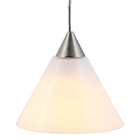 DPNL-25-6-WH White Colored Cone Shaped Glass Pendant Light