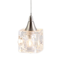 DPNL-35-6-CLEAR Cube Shaped Glass Pendant Light