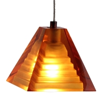 Dpnl 36 6 Amber Pyramid Shaped Gl Pendant Light