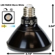 PAR30 LED Light Bulb 13W 3000K Warm White - Black Finish  PAR30 LED Bulb, LED Bulbs, Light Bulbs, PAR30, PAR, LED,  Warm White, 3000K, LB-3001-BK-3K