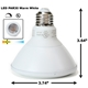 PAR30 LED Light Bulb 13W 6500K Daylight White - White Finish  PAR30 LED Bulb, LED Bulbs, Light Bulbs, PAR30, PAR, LED,  Daylight White, 6500K, LB-1001-WH-653K