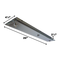 WAC Lighting 3-Point Rectangular Mirrored Canopy QMP-G3RE-MR