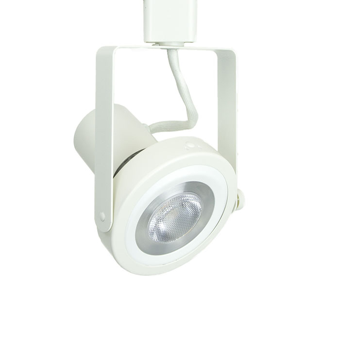 Read Loading Gimbal Ring Led Track Lighting Fixture Par30 In White 3k