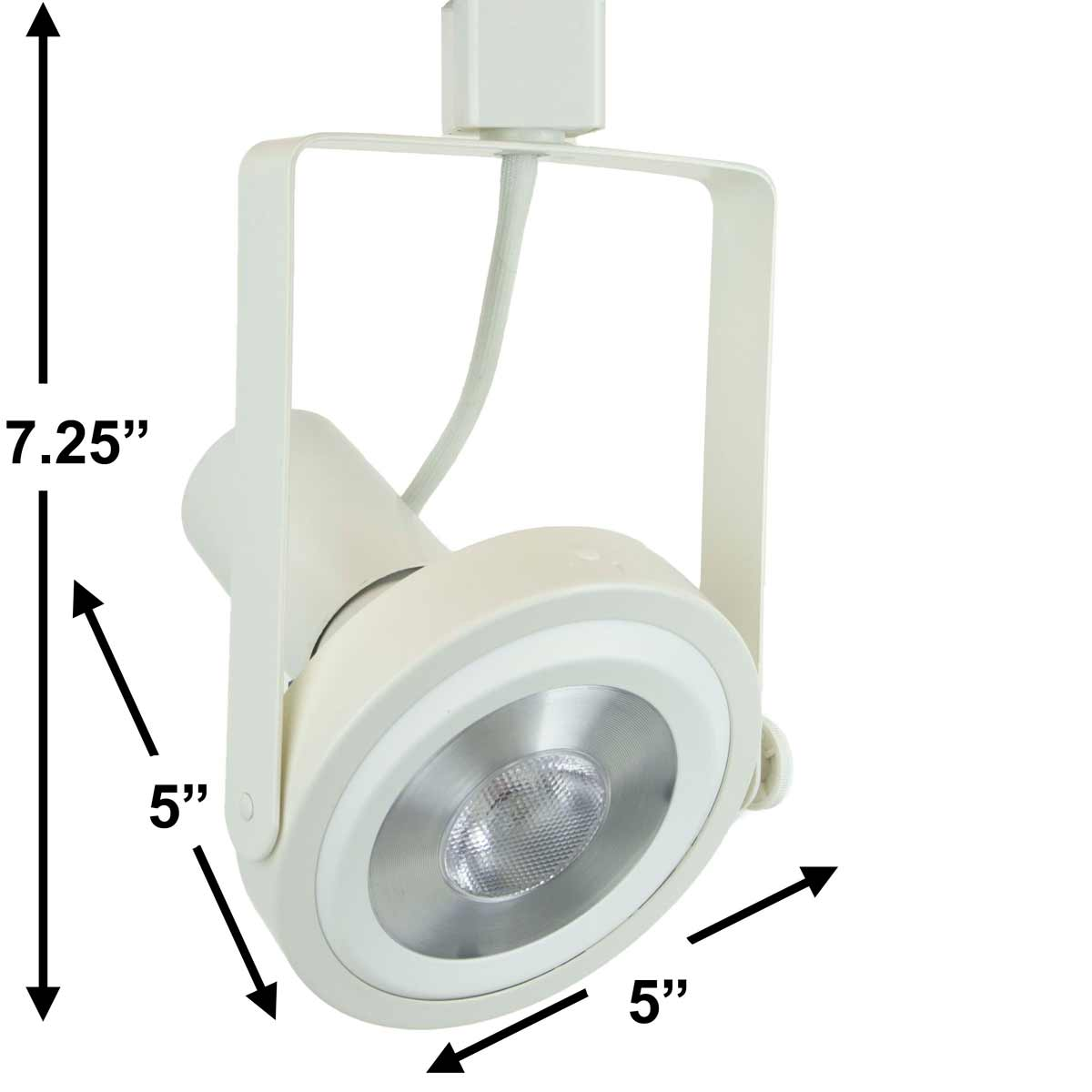 LED PAR38 Rear Loading Gimbal Ring Track Lighting Fixture 50006-L38-3K-WH