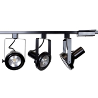 Rear Loading Gimbal Ring LED Track Lighting Kit 50006-3KIT-3K-BK Rear Loading, Gimbal Ring, LED Track Lighting Kit, Black, PAR38, LED, Track Lights, Kits, Track Fixtures, 3K, 90W Halogen, 50006-3KIT-3K-BK