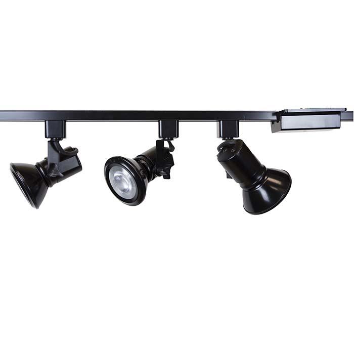 Universal led track lighting kit black finish par30 13w 3k led bulb led track lighting kit 50047 3l30 3k bk 50047 3l30 aloadofball Gallery