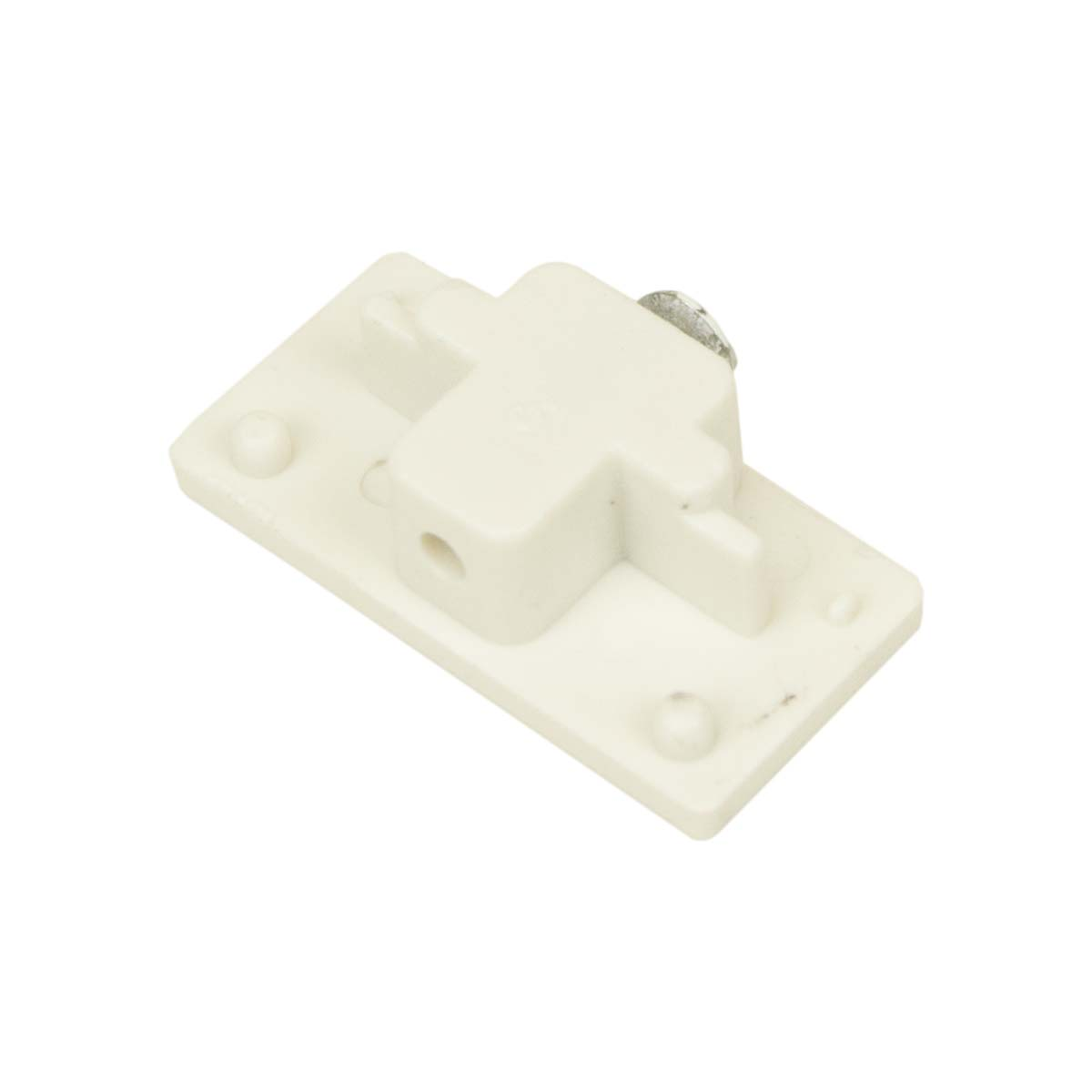 H System Single Track Lighting End Cap 50089 White