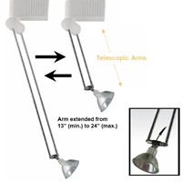 3-Light Telescopic Arm Track Lighting Kit HT-236ALED-3-KIT