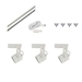 Track Lighting Kit HT-50010-3-KIT - HT-50010-3-KIT-WH