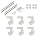 Low Voltage Track Lighting Kit White