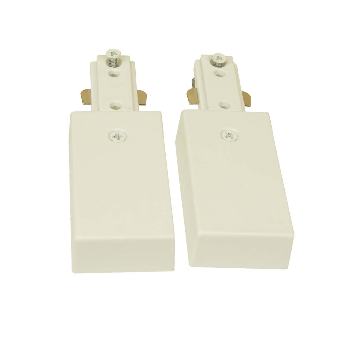 H System Single Circuit Live End Continuation Pair Connector 50114 White