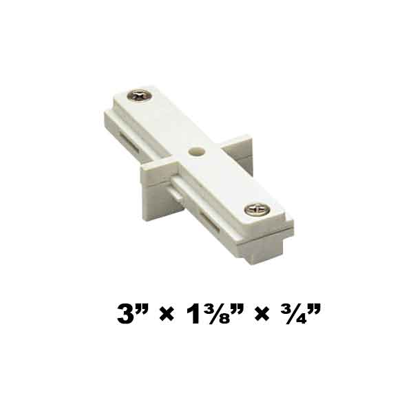 WAC Lighting H Series Single Circuit I Dead End Straight Line Connector HI-DEC