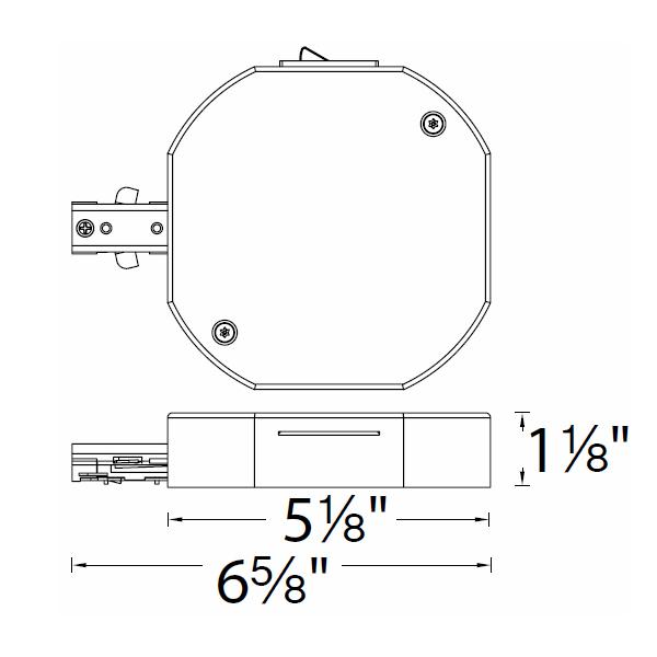 WAC Lighting 120V H Track Current Limiter Single Live End