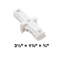 WAC Lighting J2 Series Two Circuit I Dead End Straight Line Connector J2-IDEC WAC, Lighting, Dead End, Straight, Connector, Track, Two Circuit, WAC Lighting,  J2 System, J2-I Type, 120V, J2-IDEC
