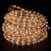120 Volt Warm White Incandescent Rope Light 48 Feet in dark room