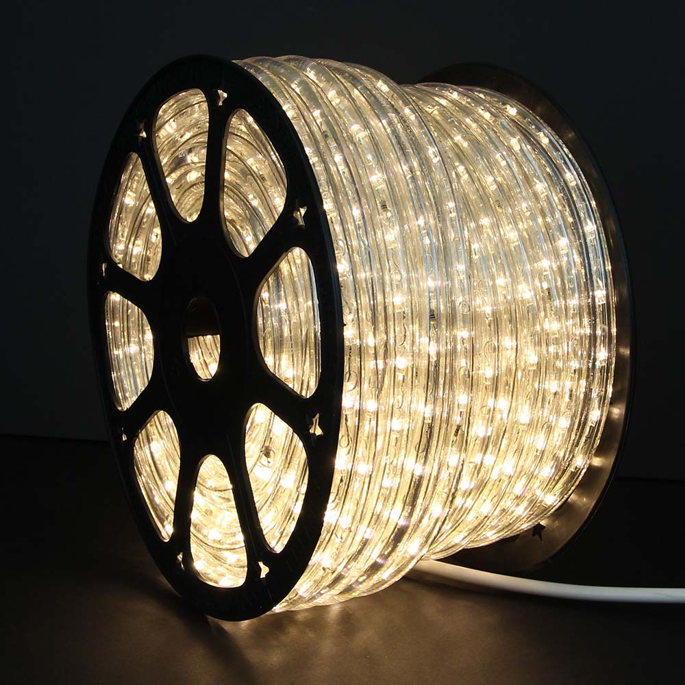 Warm white led rope lights 148ft rlwl 148 ww direct lighting 148 warm white led rope light mozeypictures Image collections