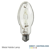Pluse Start Metal Halide Lamp 400W 1022 Metal Halide Lamp, 400W Metal Halide Lamp, HID Lamps, ANSI M59/E, Plusrite 1022