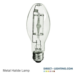 Protected Metal Halide Lamp 50W 1031  Metal Halide Lamp, 50W Metal Halide Lamp, HID Lamps, ANSI M110/O, Plusrite 1031
