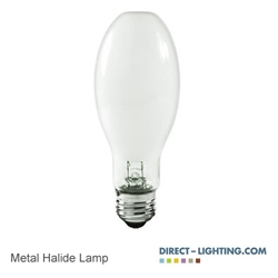 Protected Metal Halide Lamp 50W 1032 Metal Halide Lamp, 50W Metal Halide Lamp, HID Lamps, ANSI M110/O, Plusrite 1032