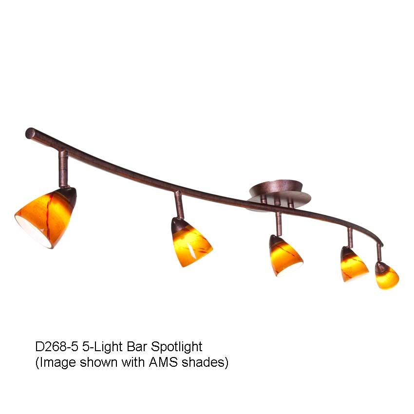 D268 5 Five Light Directional Spot Lights